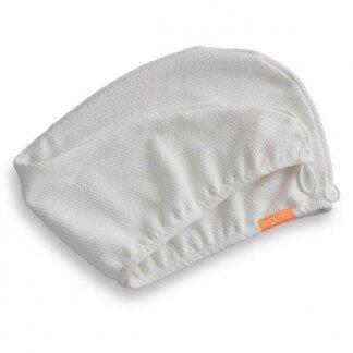 Aquis lisse crepe turban hårturban vit