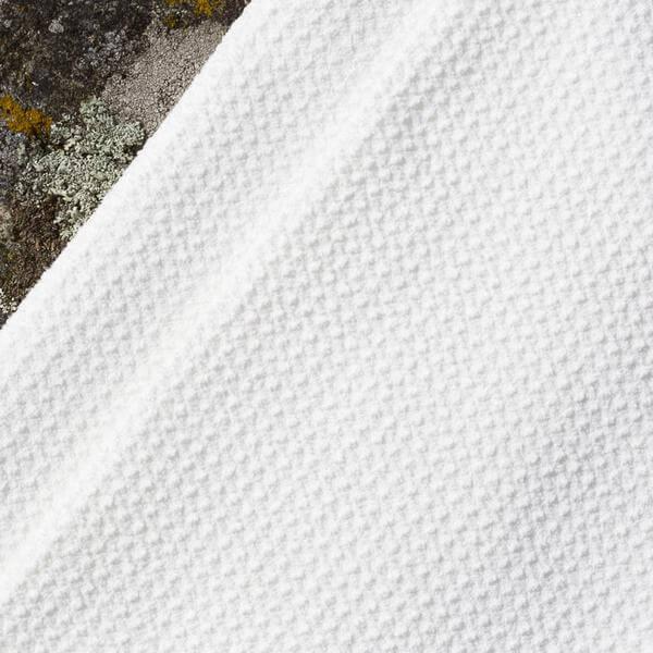 närbild på materialet i aquis hårhanddukar - aquatex waffle